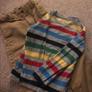 Boys Gap shirt and Nautica pants 4T